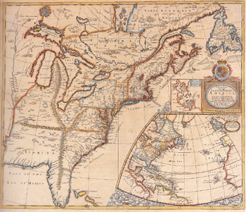 'A New Map of the English Empire in America,' Revised by John Senex, 1719.