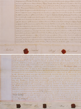 Ante- and post-nuptial documents of Joshua Lazarus and Phebe Yates, 1835 and 1836
