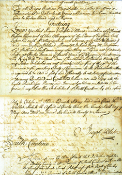 Naturalization of Simon Valentine, Merchant: an alien of the Jewish Nation, May 26, 1697 (facsimile)