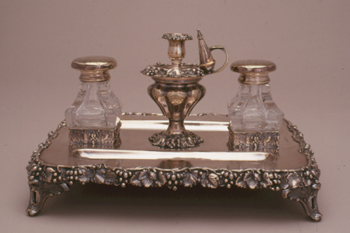Desk set with ink stand belonging to Henry M. Phillips (1811-1884)