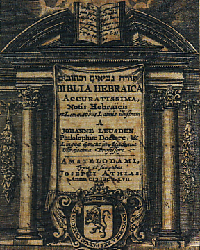 Biblia Hebraica of the DeLeon family