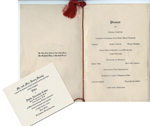 Wedding Menu and Invitation