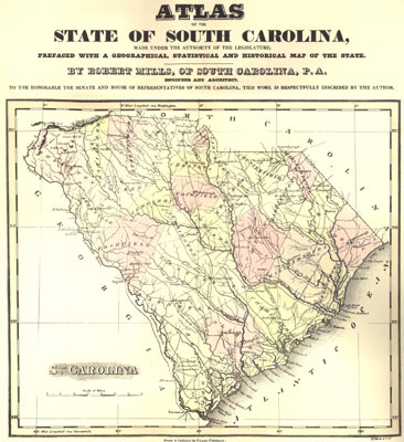State of South Carolina, by Robert Mills, 1825