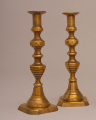 Candlesticks of Dora Witcover, ca. 1858-1860