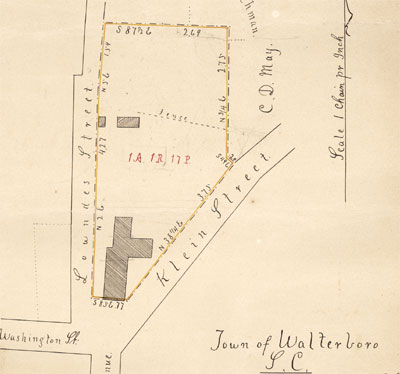 Plat map for 'Kleins Store Lot,' Walterboro, S.C., 1902