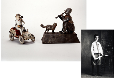 Toys and photo of Maier Triest (1901-1969)