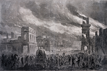 Columbia in Flames, Harper's Weekly, April 8, 1865